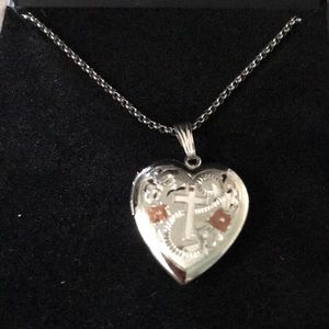 New but no tags locket  with silver chain